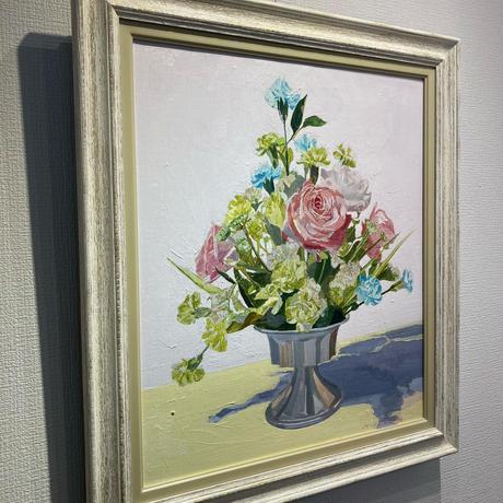 宮田みな美 「赤い花」 F10号 Miyata  Minami