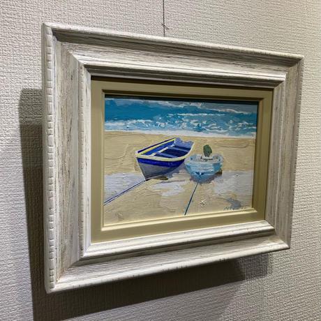 宮田みな美 「ボート二艘」 サムホール Miyata  Minami