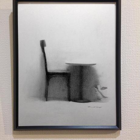 上杉 尚 「caffè Veloceの椅子」  H36xW27      Uesugi Takashi