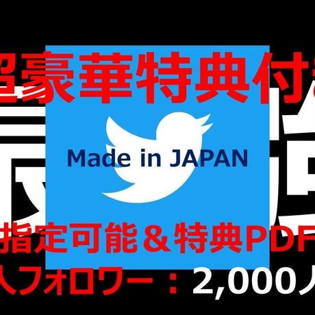 【★超豪華特典付き★】高凍結耐性 最高品質  属性指定可能 日本人Twitterアカウント フォロワー数2,000人以上