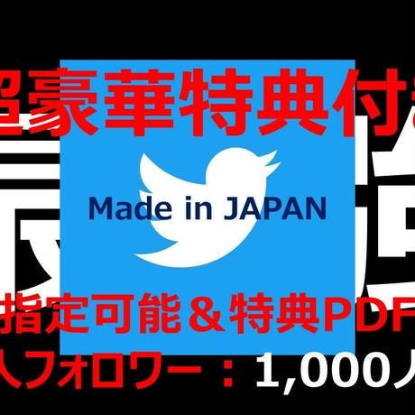 【★超豪華特典付き★】高凍結耐性 最高品質 属性指定可能 日本人Twitterアカウント フォロワー数1,000人以上