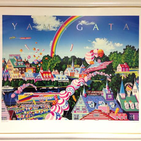 [ポスター額付き]ヒロ ヤマガタ 「AMERICAN TRAIN」