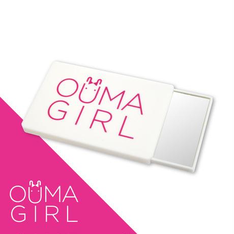 【即納品】コンパクトミラー「OUMAGIRL」ホワイト