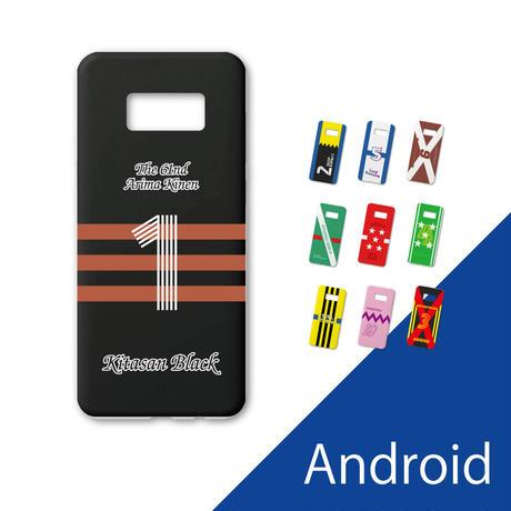 【特注品】 Androidケース「勝負服」ホワイト Galaxy Xperia ARROWS AQUOS Huawei【9日納期】