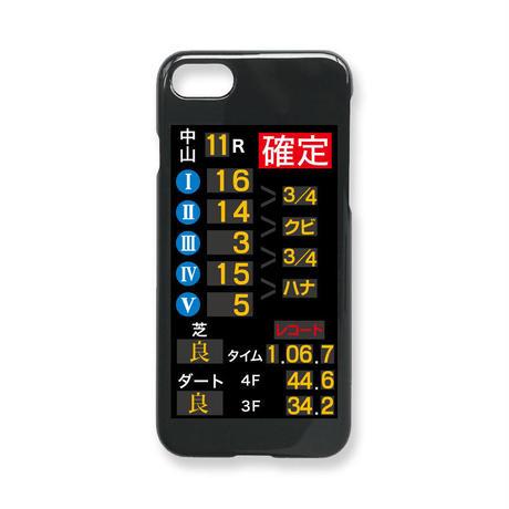 【オーダー】 iPhoneケース「着順掲示板」 光沢カバー ブラック