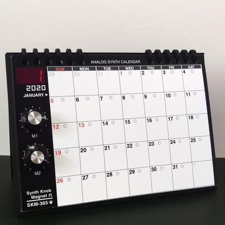 【カレンダー】アナログシンセカレンダーSKM-365PE・2020モデル 卓上/SKMクラシック