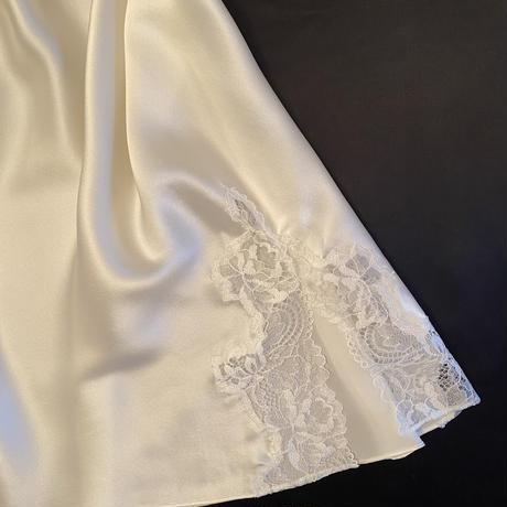 Silk/lace Slip dress size S White