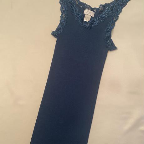 Wool/Silk camisole Emerged Blue