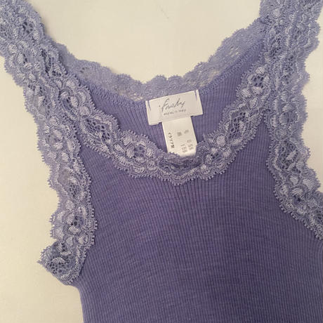 Wool/Silk camisole Blue Grey