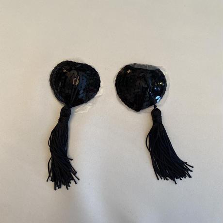 Nipples cover Black  fringe size free
