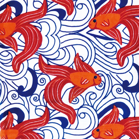"OLIVER+KIT - Bamboo/Cotton Single Blanket - ""Go Fish"""