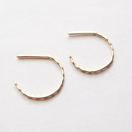 14kgf☆Emboss hoop pierce
