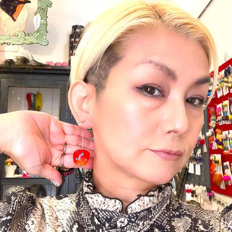 【所さんお届けモノです!】オリジナル 水玉模様のさくらんぼピアス・イヤリング