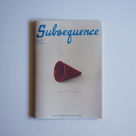 Subsequence volume 04