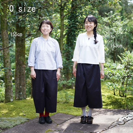 【安藤明子】ポケットゴムズボン コットンツイル 1サイズ ネイビー/ブラック