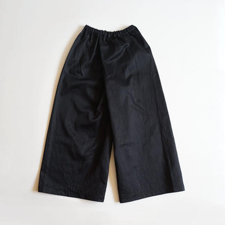 【安藤明子】ポケットゴムズボン コットンツイル 2サイズ ネイビー/ブラック