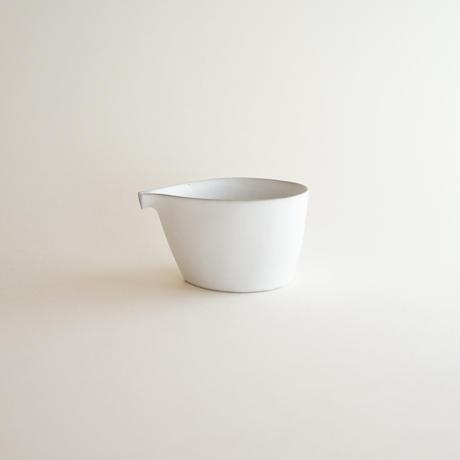 【安藤雅信】白糖釉片口 LMMα  (白糖釉)