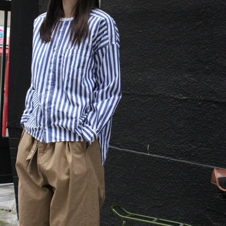UT182SH015 バーバーストライプ ワーキングシャツ