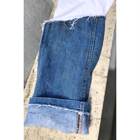 REMAKE  DENIM  SLEEVE  TEE 5