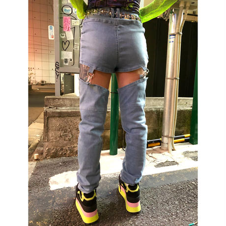 【DOLLS KILL】LET 'ER BUCK HARNESS JEANS