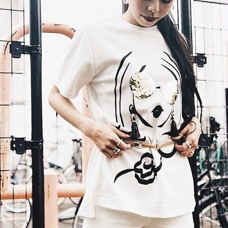 【CUBRUN】SPANGLE LADY TEE