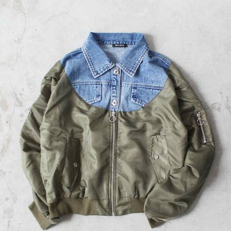 DENIM  DOCKING MA-1  BLOUSON