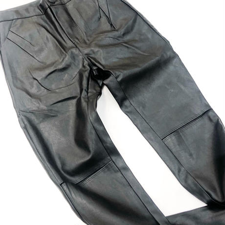 STRETCH FAKE LEATHER PANTS