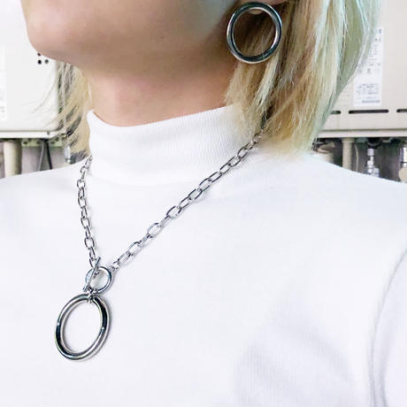 SILVER RING CHAIN NECKLACE