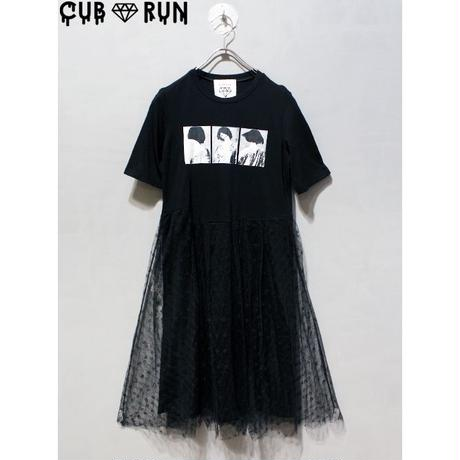 【CUBRUN】TULLE PRINT ONEPIECE