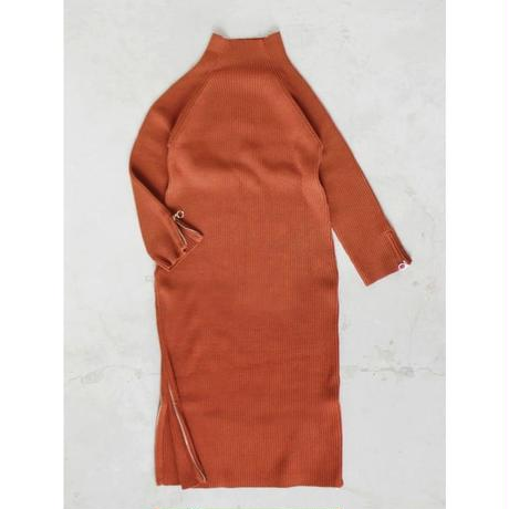 ZIP LONG KNIT DRESS