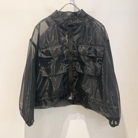 SEE-THROUGH ZIP  BLOUSON