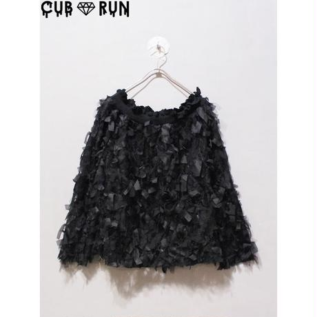 【CUBRUN】TULLE RIBBON OFFSHOULDER  TOPS