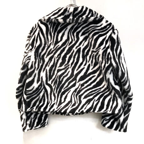 FUR ZEBRA SHORT JACKET