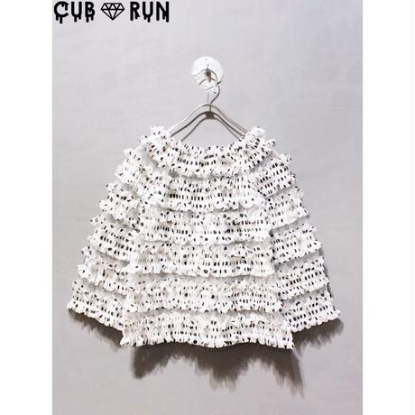 【CUBRUN】DOT  FRILL OFF SHOULDER