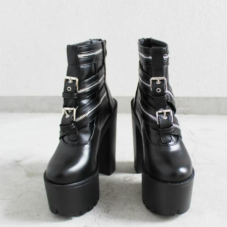 3ZIPPER   BELT BOOTS