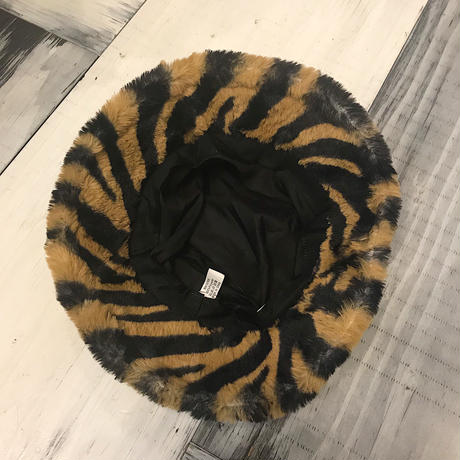FUR ZEBRA HAT