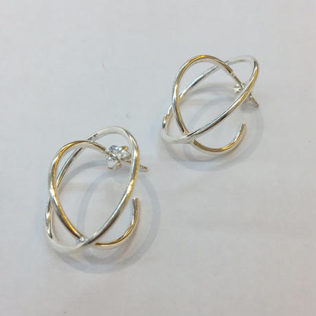 【 PHISMADE 】925 IN A CIRCLE PIERCE