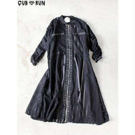 【CUBRUN 】SEE-THROUGH STRIPE STUDS COAT