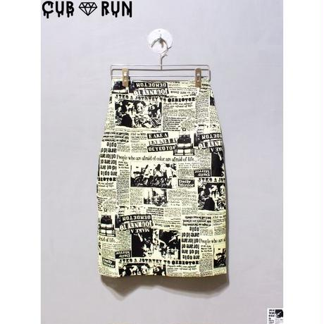【CUBRUN】NEWSPAPER TIGHT SKIRT