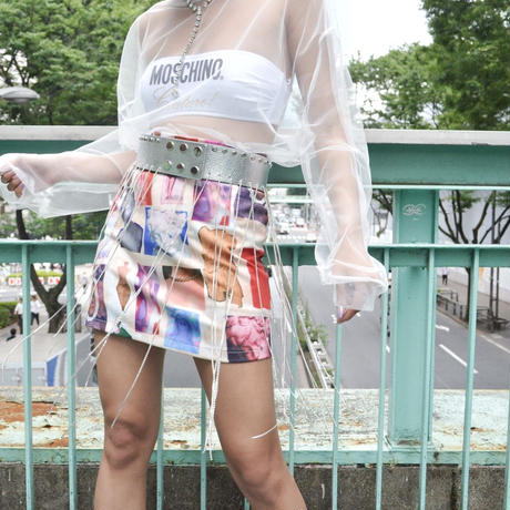 【CUBRUN】PRINT MINI SKIRT
