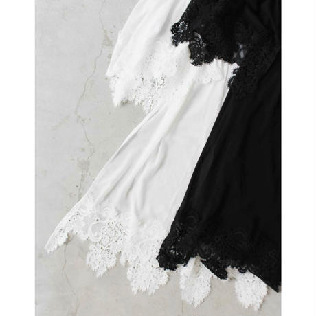 ASYMMETRY  LACE SHEER TOPS