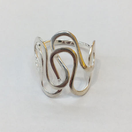 【Phismade】925 wave ring