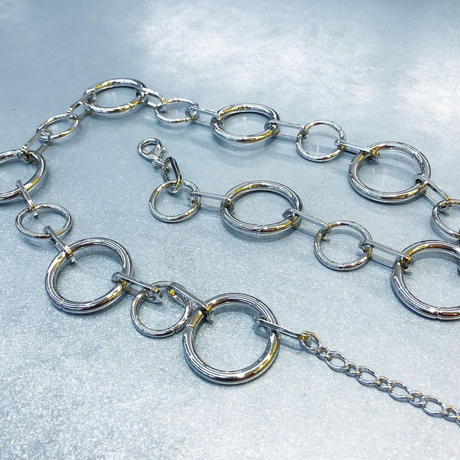 SILVER RING CHAIN BELT