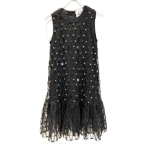 【CUBRUN】TULLE SPANGLE DRESS