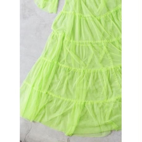 【CUBRUN】See-through Tulle One-piece