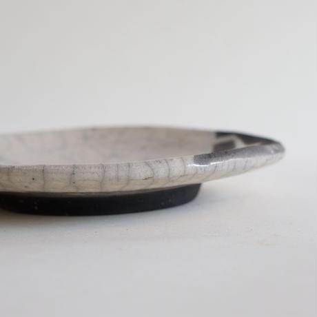 キムホノ作 楽焼 皿/白B