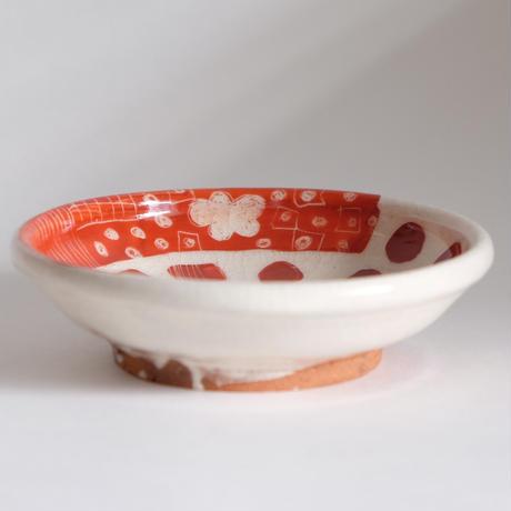 イバタカツエ作 赤絵豆皿/D