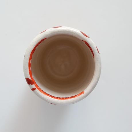イバタカツエ作 赤絵の長湯のみA
