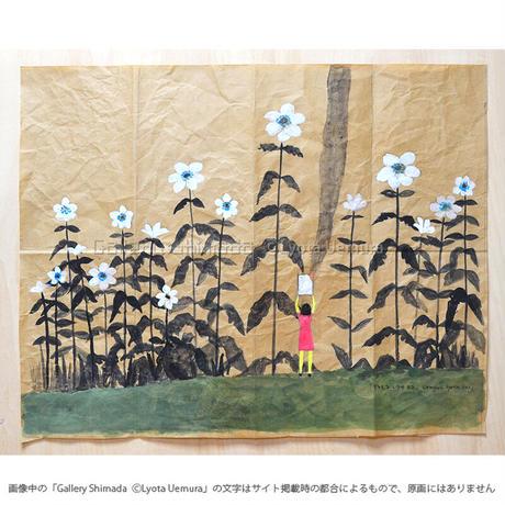 上村亮太 「アネモネと少女#2」(折り目正しい絵画シリーズ)