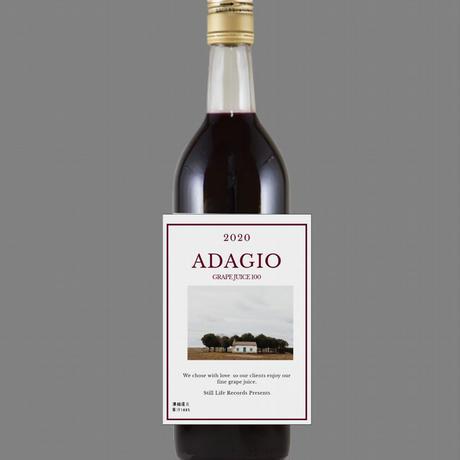 『ADAGIO 2020 Grape Juice 100 』750ml(白、赤) 予約販売